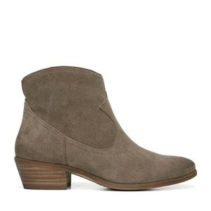 SAM EDELMAN Peggy Taupe Ankle Boots Suede Booties